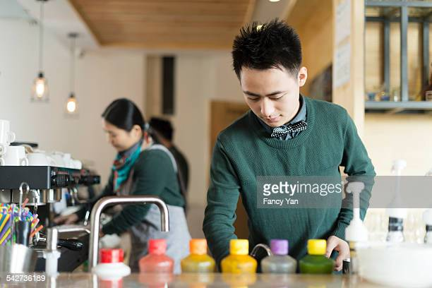 waiter working in cafe