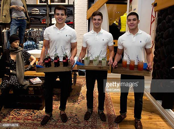 Waiters provide drinks and food at the Teen Vogue and Polo Ralph Lauren December 2014 Houston Store Opening on December 3 2014 in Houston Texas