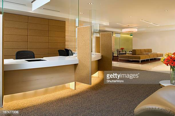 Waiting Area Inside A Luxurious Building