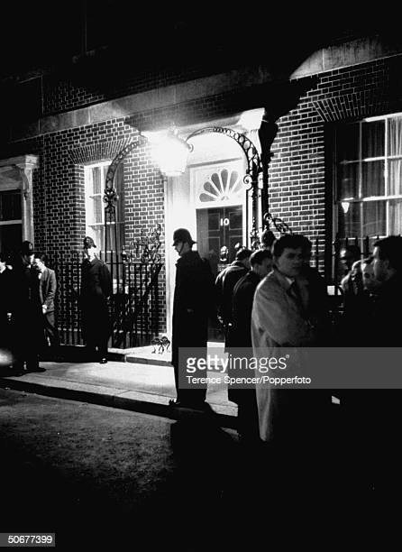 Waiting at 10 Downing Street following the assassination of John F Kennedy
