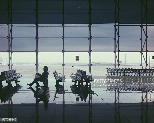Waiting at the airport in Barcelona 2014