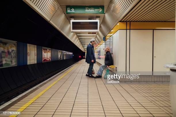 waiting at the platform - tyne and wear stock pictures, royalty-free photos & images