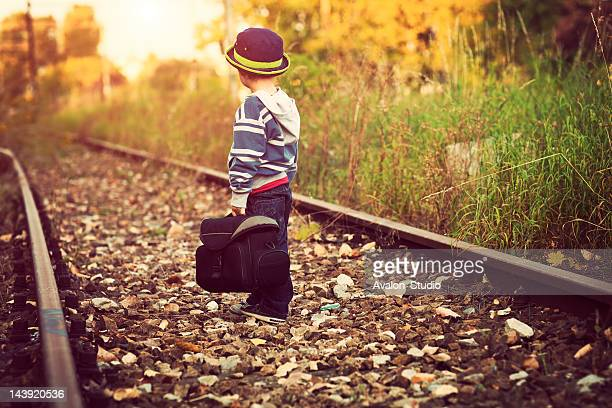 waiting for a train