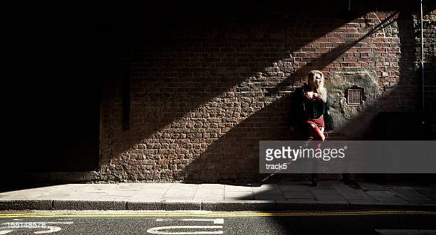 waiting for business - prostitutie stockfoto's en -beelden