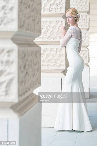 Waiting for her husband