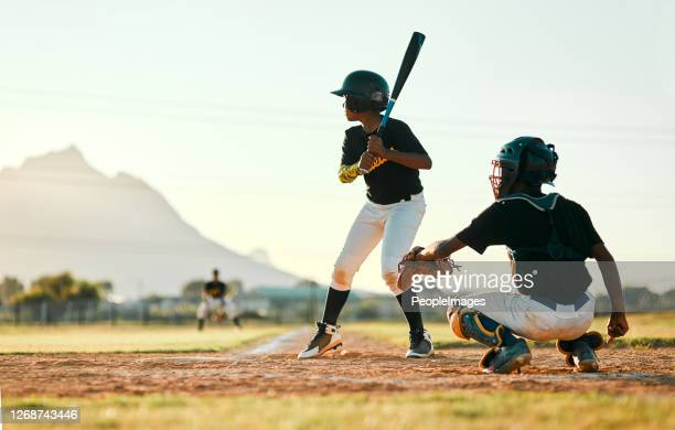 waiting for his opportunity to swing - batting sports activity stock pictures, royalty-free photos & images