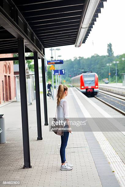 Waiting for incoming S-Bahn