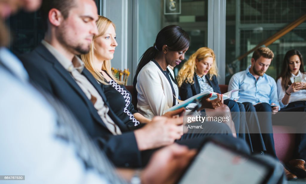 Waiting for results of job interview : Stock Photo
