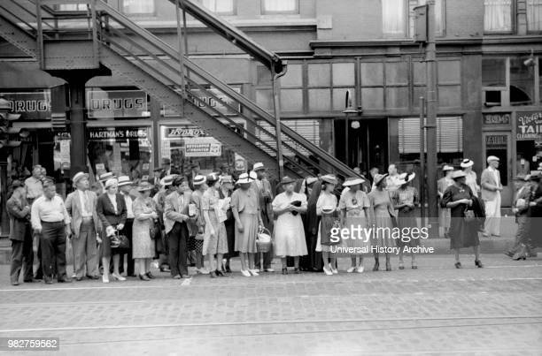 Waiting for Streetcar, Chicago, Illinois, USA, John Vachon for Farm Security Administration July 1940.