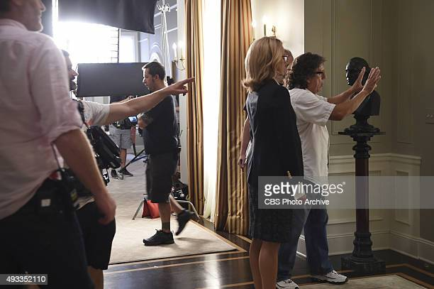 Waiting for TalejuBehind the scenes of the CBS drama MADAM SECRETARY scheduled to air on the CBS Television Network Pictured LR Téa Leoni and...