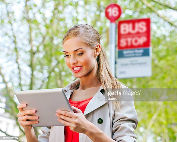 waiting for the bus - izusek stock photos and pictures