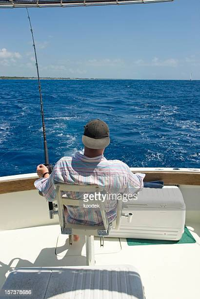 waiting for the fish - big game fishing stock photos and pictures