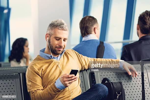 Warten auf dem Flug