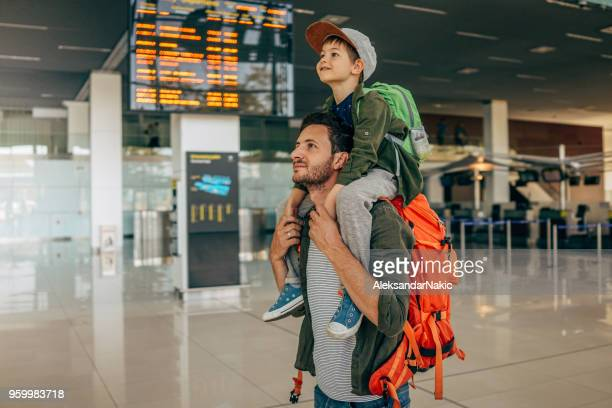 waiting for the flight - arrival stock pictures, royalty-free photos & images