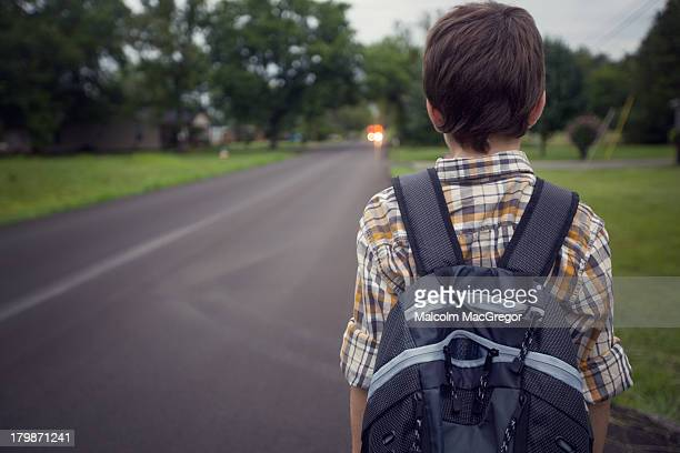 Waiting for the school bus