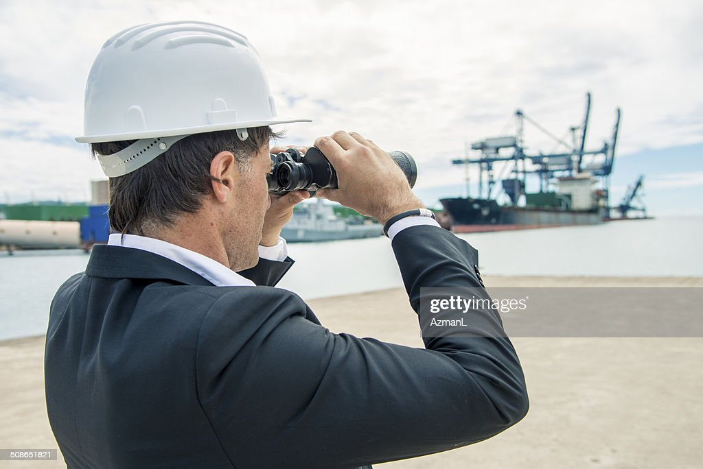 Waiting for the ship : Stock Photo
