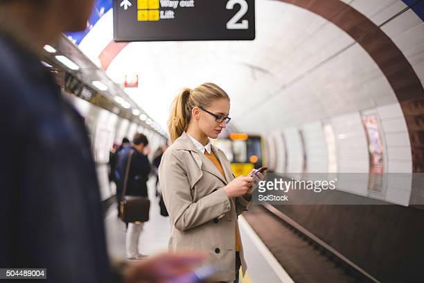 Attente pour le métro
