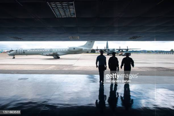 waiting for the takeoff of galeão air base in Rio de Janeiro Brazil on November 03 2019 in King George Island Antarctica
