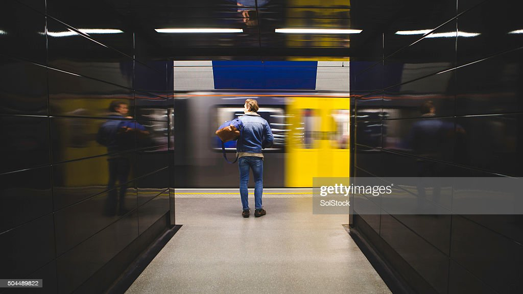 Waiting for the Train : Stock Photo