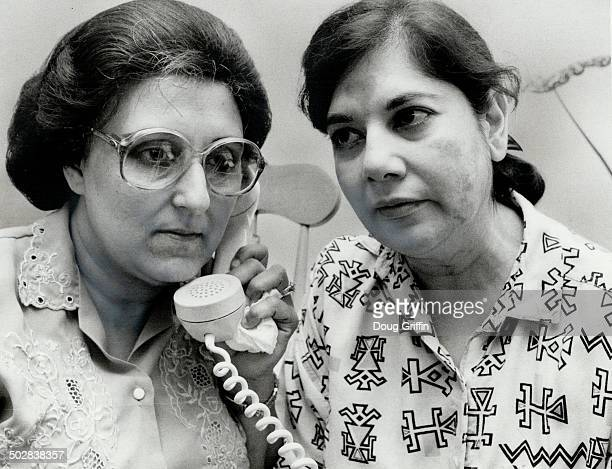 Waiting for word: Jubilee Gulamani; left; and Fatima Bhatia; mothers of a young couple believed on a hijacked Pan Am jumbo in Pakistan; wait for news.