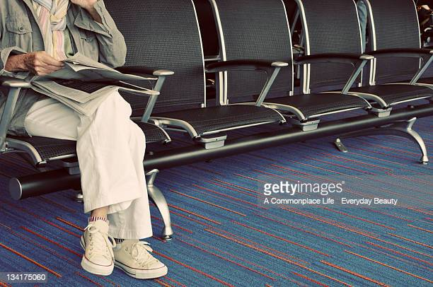 Waiting in airport
