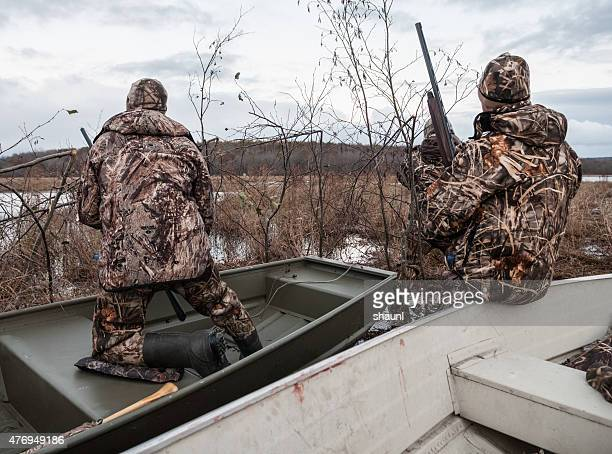 Waiting in Hunting Blind