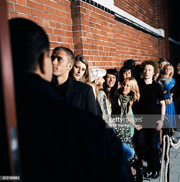 Waiting in Line Outside Nightclub