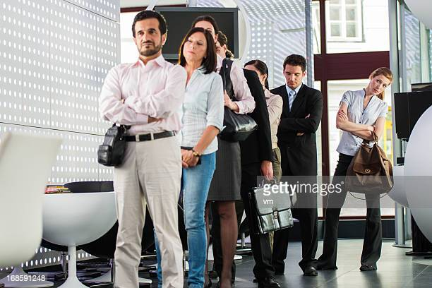 waiting in line - waiting stock pictures, royalty-free photos & images