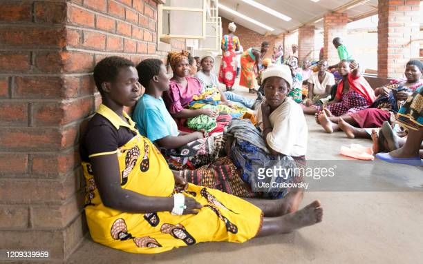 Waiting patients at the Nkhoma maternity ward, hospital where midwives are trained in the so-called Skills Lab, Nkhoma, Malawi, on January 06, 2019...