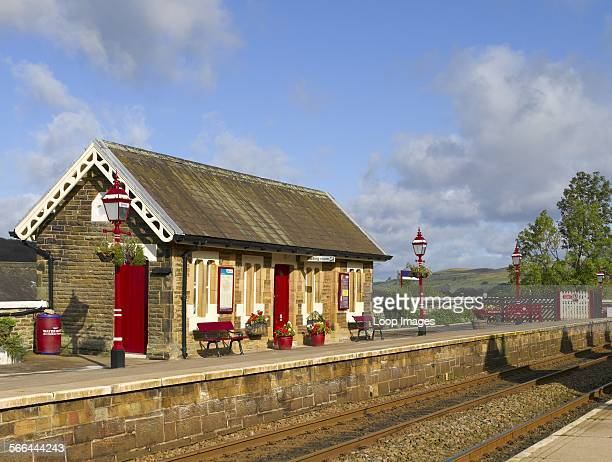 Waiting room at Settle railway station in Ribblesdale on the SettleCarlisle Line