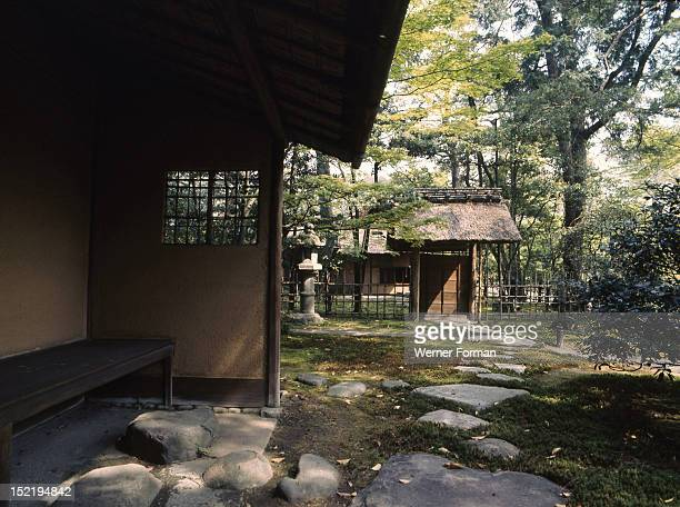 Waiting room for the formal tea house in the grounds of the Sento Imperial Palace, Japan. Kyoto.
