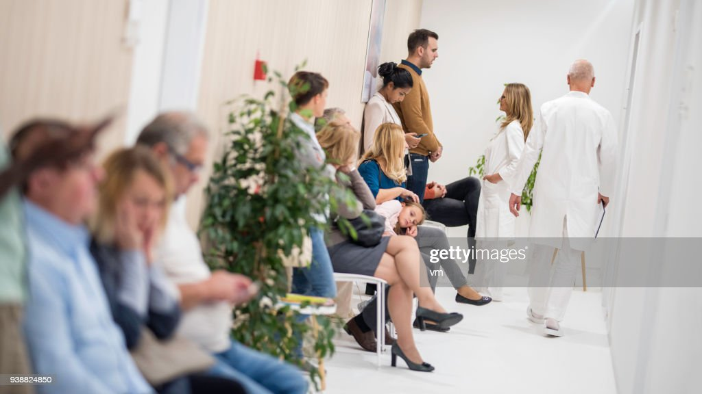 Waiting room in a hospital : Stock Photo