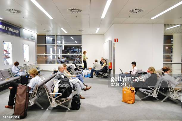 Waiting room in Brussels airport