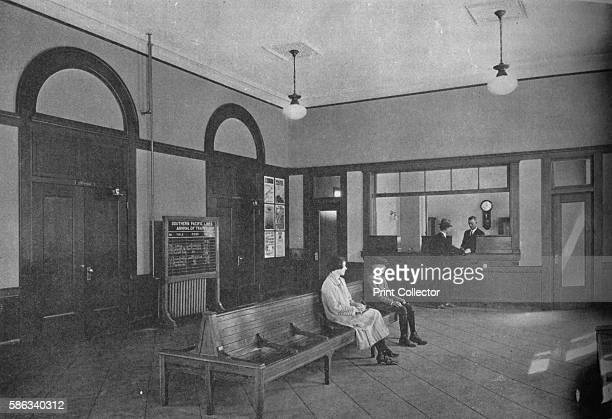 Waiting room Redlands Station California 1926 From The Architectural Forum Volume XLIV [Rogers and Manson New York 1926] Artist Unknown