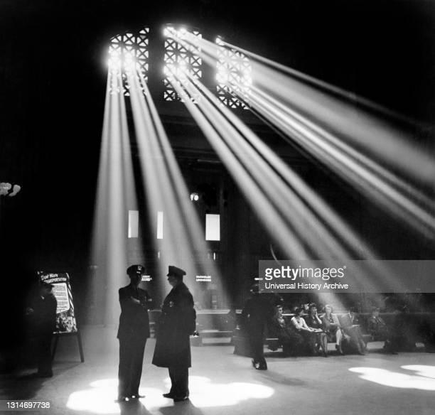 Waiting Room, Union Station, Chicago, Illinois, USA, Jack Delano, U.S. Office of War Information, January 1943.