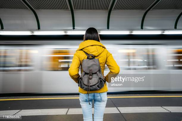 waiting subway train - waiting stock pictures, royalty-free photos & images