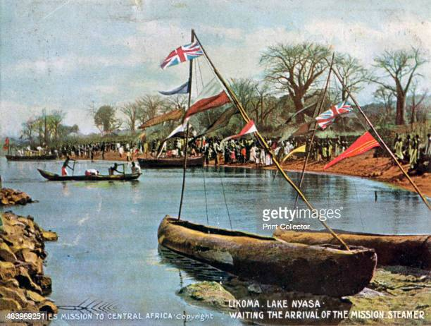 'Waiting the Arrival of the Mission Steamer' Likoma Lake Nyasa Africa 1904 Scene in what is now Malawi Published by the Universities Mission to...