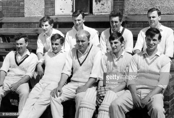 Waiting their turn to go out to bat are the members of Middlesbrough cricket team who were playing Saltburn in the North Yorks and South Durham...