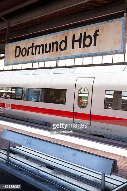 Waiting train intercity ICE in station Dortmund