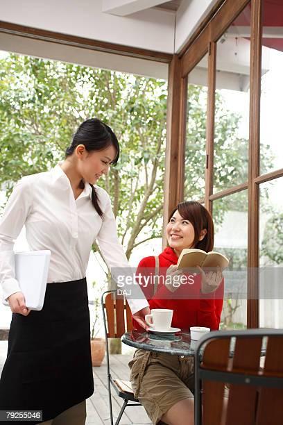 Waitress and Customer