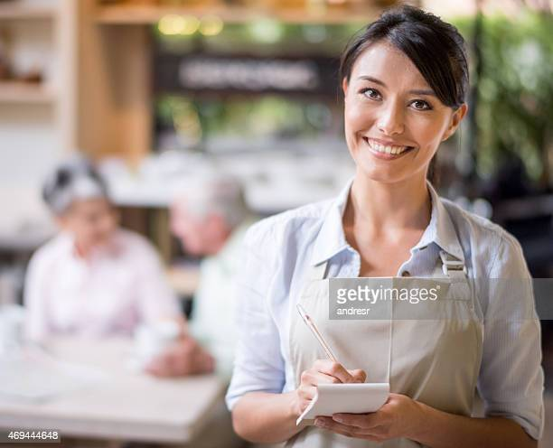Waitress at a coffee shop