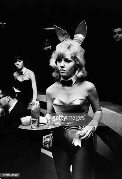 A waitress at the Playboy Club in New York in her socalled bunny outfit