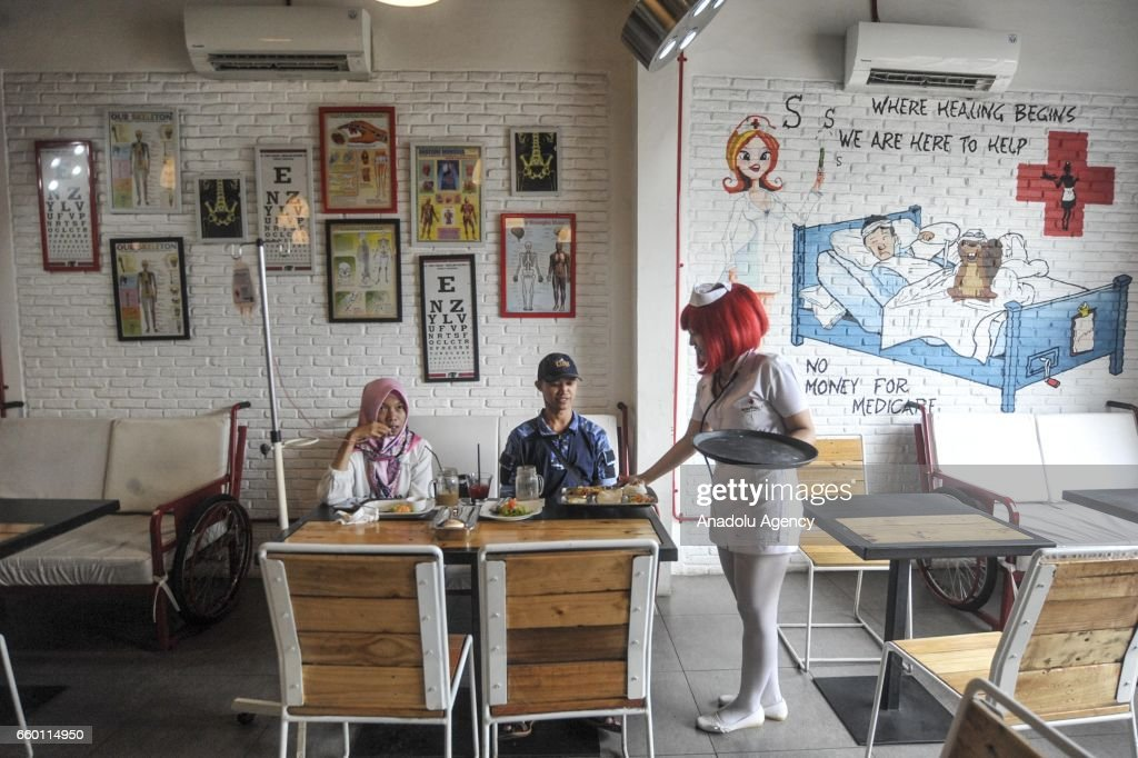 Hospital themed restaurant in Indonesia : News Photo
