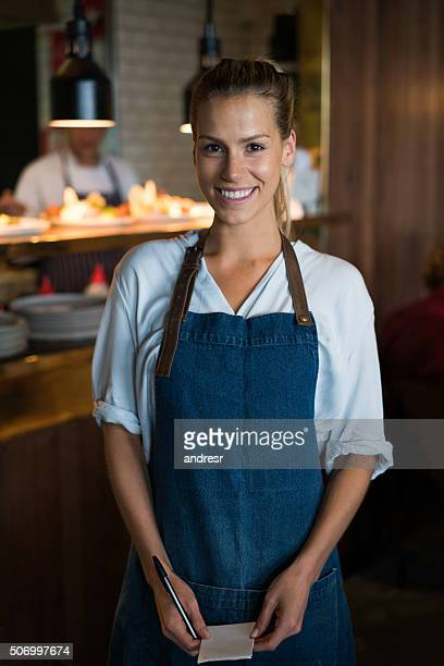 Waitress working at a coffee shop