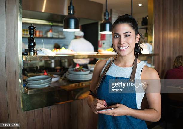 Waitress working at a restaurant