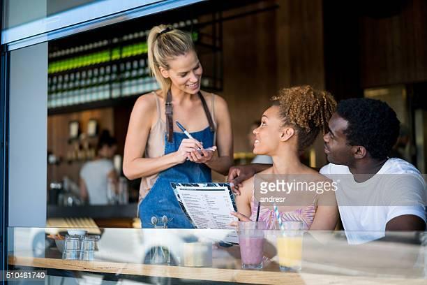 Waitress working at a restaurant