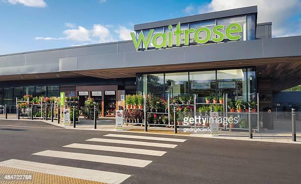 waitrose supermercado entrada - fachada supermercado imagens e fotografias de stock
