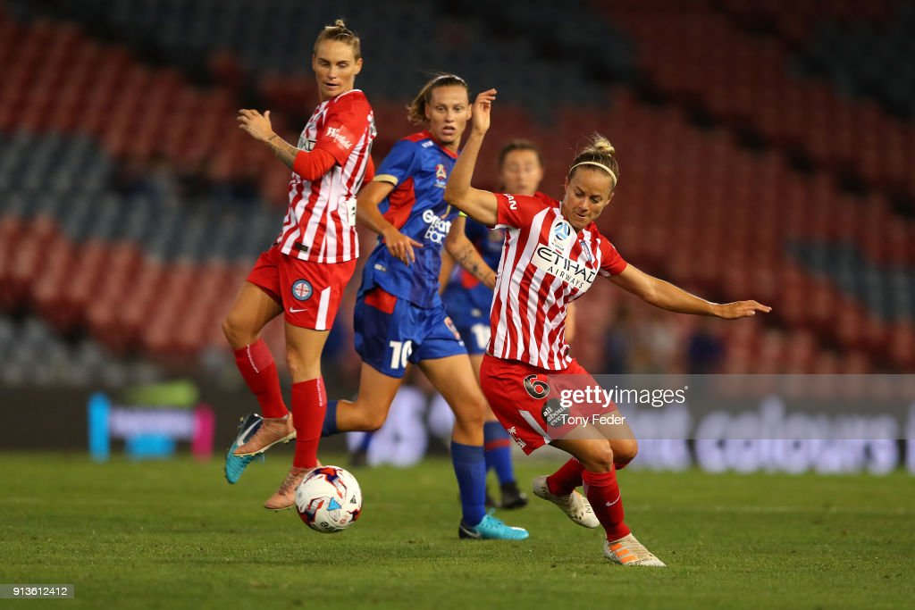 Waivi Luik of City controls the ball during the round 14 W-League match between the Newcastle Jets and Melbourne City FC at McDonald Jones Stadium on February 3, 2018 in Newcastle, Australia.