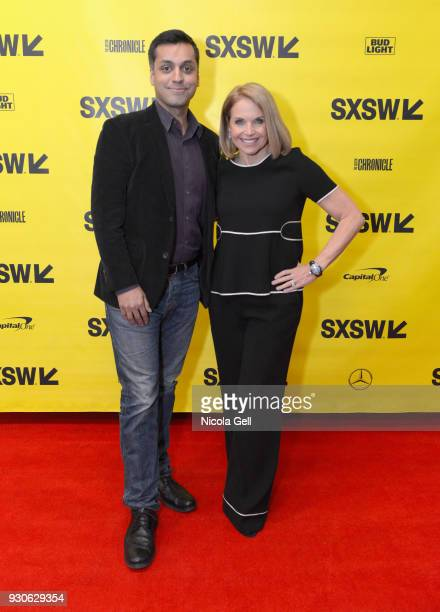 Wajahat Ali and Katie Couric attend Katie Couric podcast LIVE The Muslim Next Door during SXSW at Austin Convention Center on March 11 2018 in Austin...
