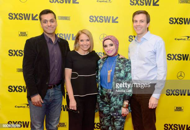 Wajahat Ali Katie Couric Mona Haydar and Brian Goldsmith attend Katie Couric podcast LIVE The Muslim Next Door during SXSW at Austin Convention...